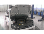 Упоры (амортизаторы) капота для Volkswagen Polo sedan (1 амортизатор) (2009 -)